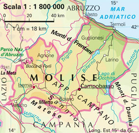 Cartina Italia Con Monti.Unpli Molise